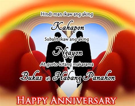 tagalog anniversary messages greetingscom