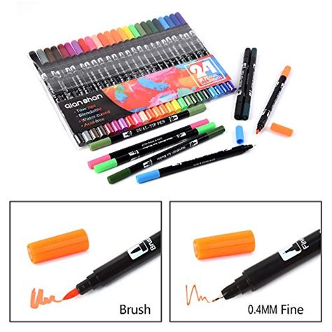 Coloring With Brush Pen by Dual Brush Pen Colored Markers 24 Colors With