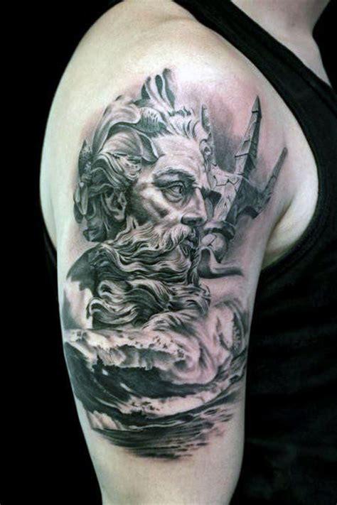 poseidon tattoo designs  men greek god   sea