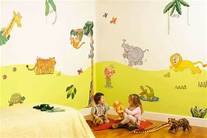 deco chambre bebe animaux jungle With exemple de decoration de jardin 4 deco chambre bebe jungle