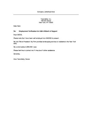 printable income verification letter   employed