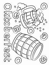 Oktoberfest Beer Coloring Barrels Pages Printable Printables Barrel Categories Ausmalbilder sketch template