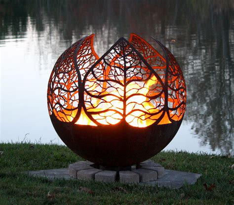 How To Light Wood Burning Fireplace by Autumn Sunset Leaf Fire Pit Sphere The Fire Pit Gallery