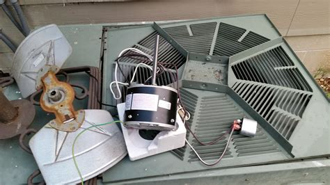 ac condenser fan motor replacement replace rheem a c condenser fan motor no skill needed