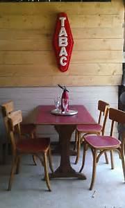 Table Et Chaise Bistrot : table et chaises bistrot photo de vendu brocante un ~ Teatrodelosmanantiales.com Idées de Décoration