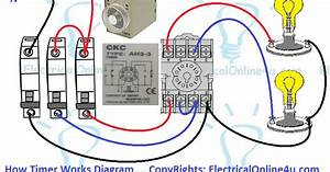 A Diagram About How On Delay Timer Works  Or Star Delta Timer Working Diagram  2 Light Bulbs
