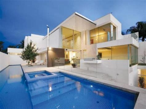 the best design of the modern house with pool your home