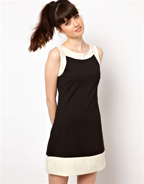 attractive black and white dress to add to ur