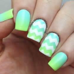 Chevron nail art ideas and design