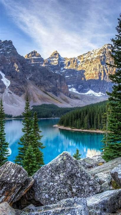Vertical Landscape Wallpapers Mountain Iphone Lake Portrait