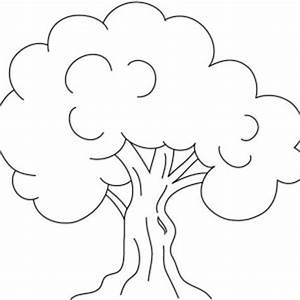 Kids Drawing of an Oak Tree Coloring Page | Color Luna