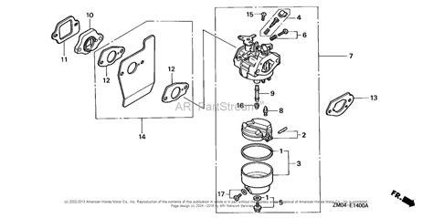 Honda Carb Diagram Cleaning by Honda Engines Gcv160 A1a Engine Jpn Vin Gjae 1000001 To
