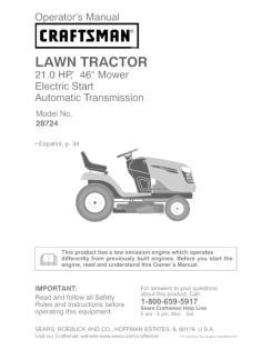 craftsman  hp   automatic lawn tractor