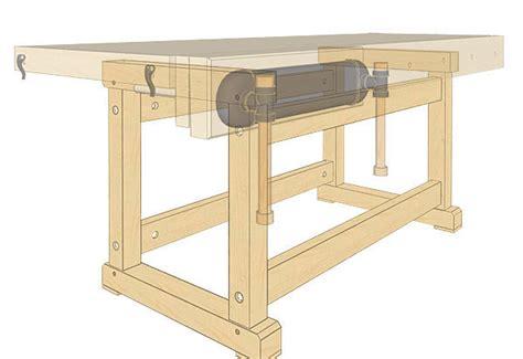 trestle legs    workbench finewoodworking