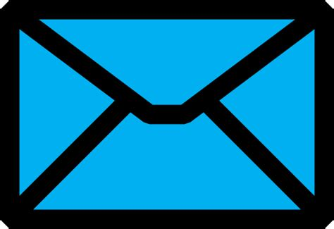 email clipart light blue email icon clip at clker vector clip