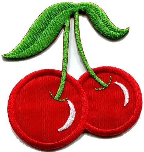 Patch Applique by Cherry Cherries Slots Retro Embroidered Applique