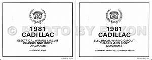1981 Cadillac Eldorado Diesel Wiring Diagram Color Set Oem Electrical Foldout