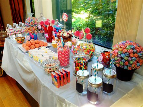 We live in a world where many of our friends and family live far away, but we still really want to celebrate their big milestones with them. Candy Buffet Dessert Table | Candy buffet, Dessert table baby, Candy bar party