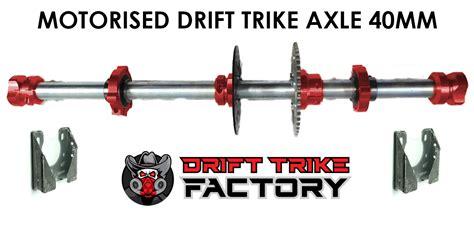Motorised Drift Trike Axle Kit 40mm With Bearing Hangers