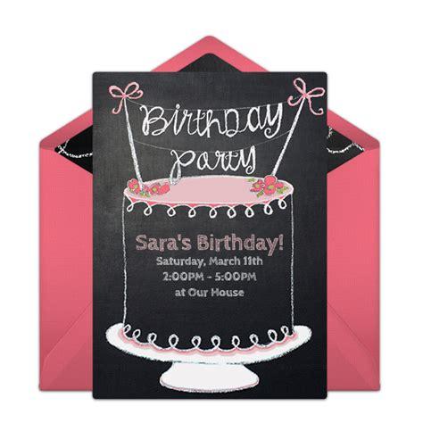 Free Chalkboard Birthday Cake Invitations Free party