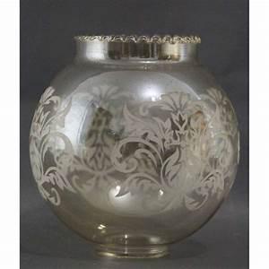 Lampe Globe Verre : tulipe abat jour globe verre grav ~ Teatrodelosmanantiales.com Idées de Décoration