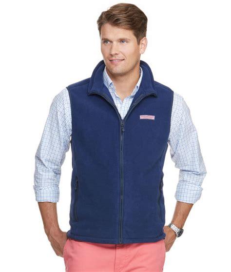 mens vests  outerwear harbor fleece vest  men vineyard vines