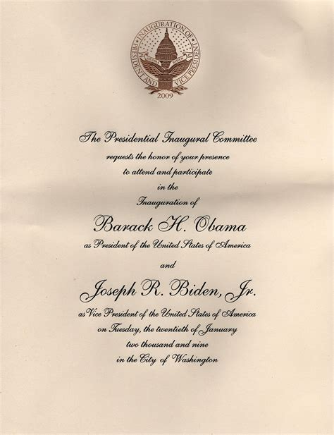 invitations    inauguration  barack obama