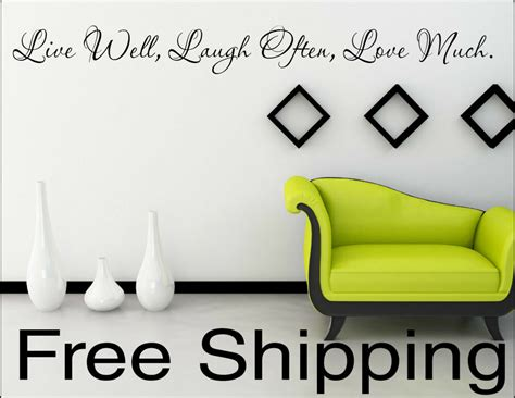 live laugh home decor live well laugh often much vinyl wall decal