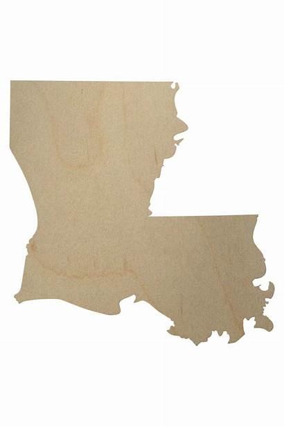 Shape Wood Louisiana State Cutout Cut Louisana