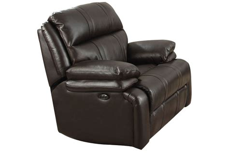 houston leather power gliding recliner