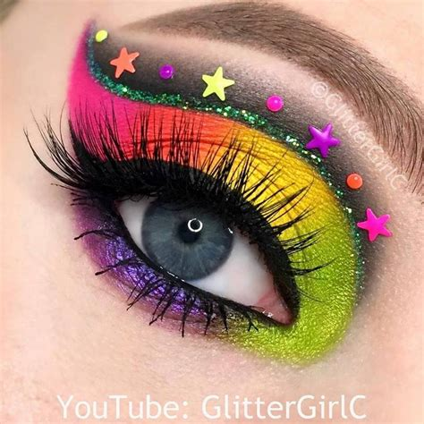 neon rainbow makeup melt cosmetics radioactive stack