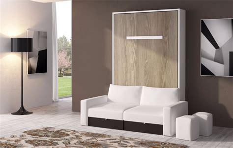 lit escamotable avec canape integre armoire lit escamotable meubles canapés chezsoidesign