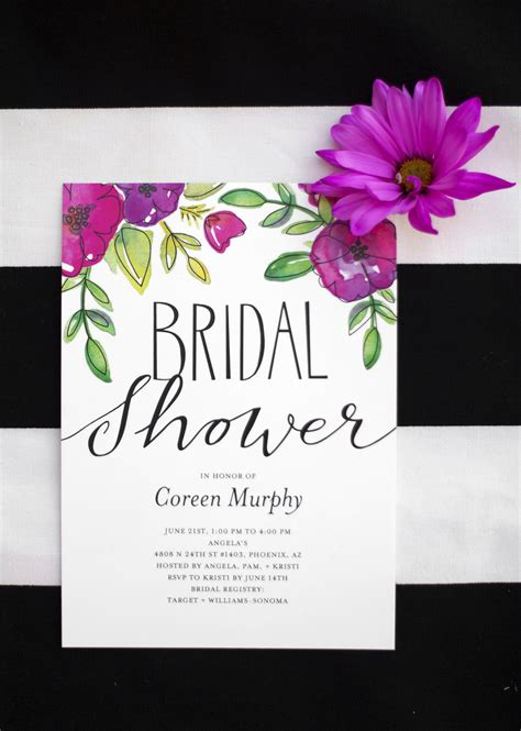 Bridal Shower Invitations - garden bridal shower kristi murphy diy