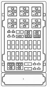 Ford E-series E-150 E150 E 150  2002  U2013 2003   U2013 Fuse Box Diagram