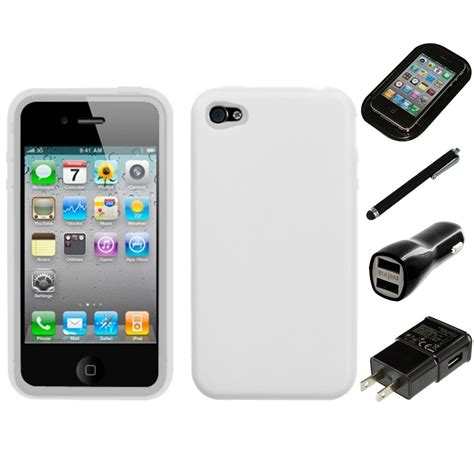 apple iphone chargers for apple iphone 4 4s silicone skin rubber soft phone