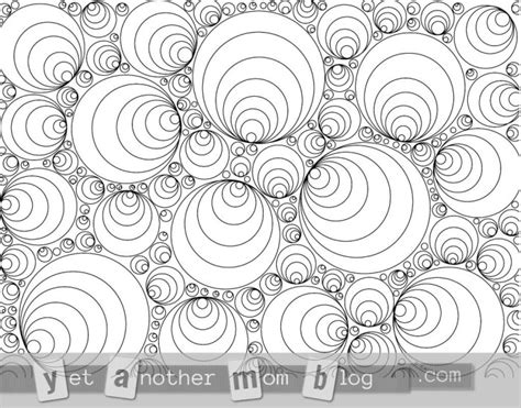 Circles! Free Coloring Pages