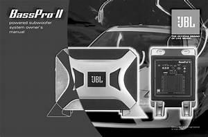 Jbl Speaker Bassprotm Ii User Guide