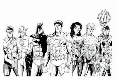 Justice League Coloring Magnificent Seven Netart