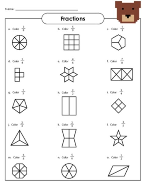 Basic Fraction Worksheets For First Grade  Word Problems Worksheets Kids Activitiesthe March