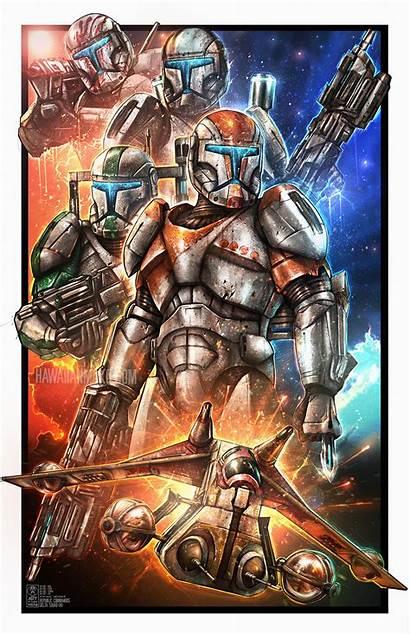Clone Wars Commando Republic Squad Commandos Delta
