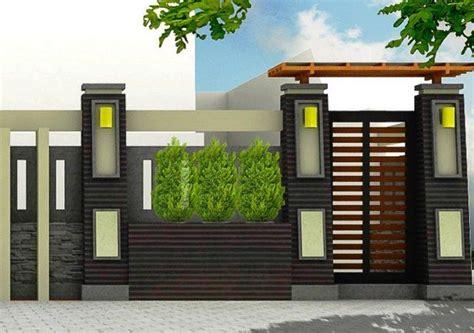 pagar batu alam minimalis desain terbaru desain gambar