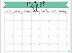 Fillable Free Monthly Calendar Calendar 2018 Printable