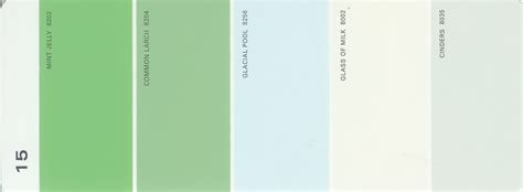 martha stewart paint 5 color palette card 15