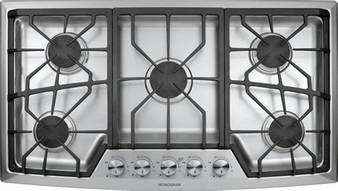 zgunsmss monogram  stainless steel gas cooktop natural gas stainless steel