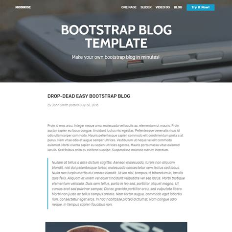 Bootstrap Templates Free Bootstrap Template 2018