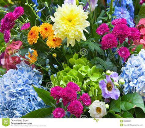 alle verschillende bloemen veelkleurig die boeket van verschillende bloemen wordt