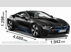 Dimensions of BMW cars showing length, width and height