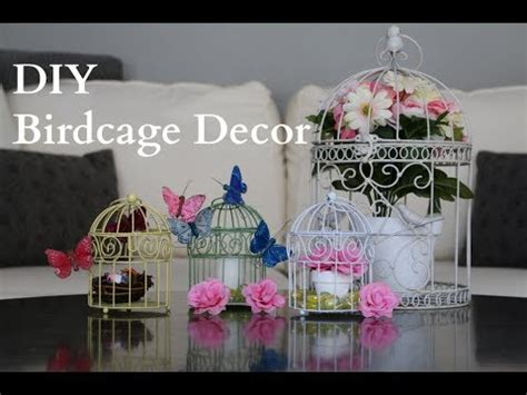 Diy Birdcage Decor Youtube
