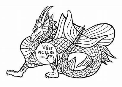 Dragon Komodo Coloring Pages Printable Getcolorings Inspirational