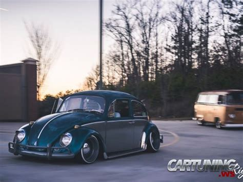 stanced volkswagen beetle side